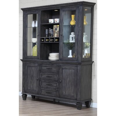 Sunset Trading Shades Of Gray China Cabinet Wayfair