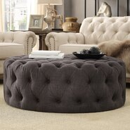 Bourges Round Tufted Cocktail Ottoman