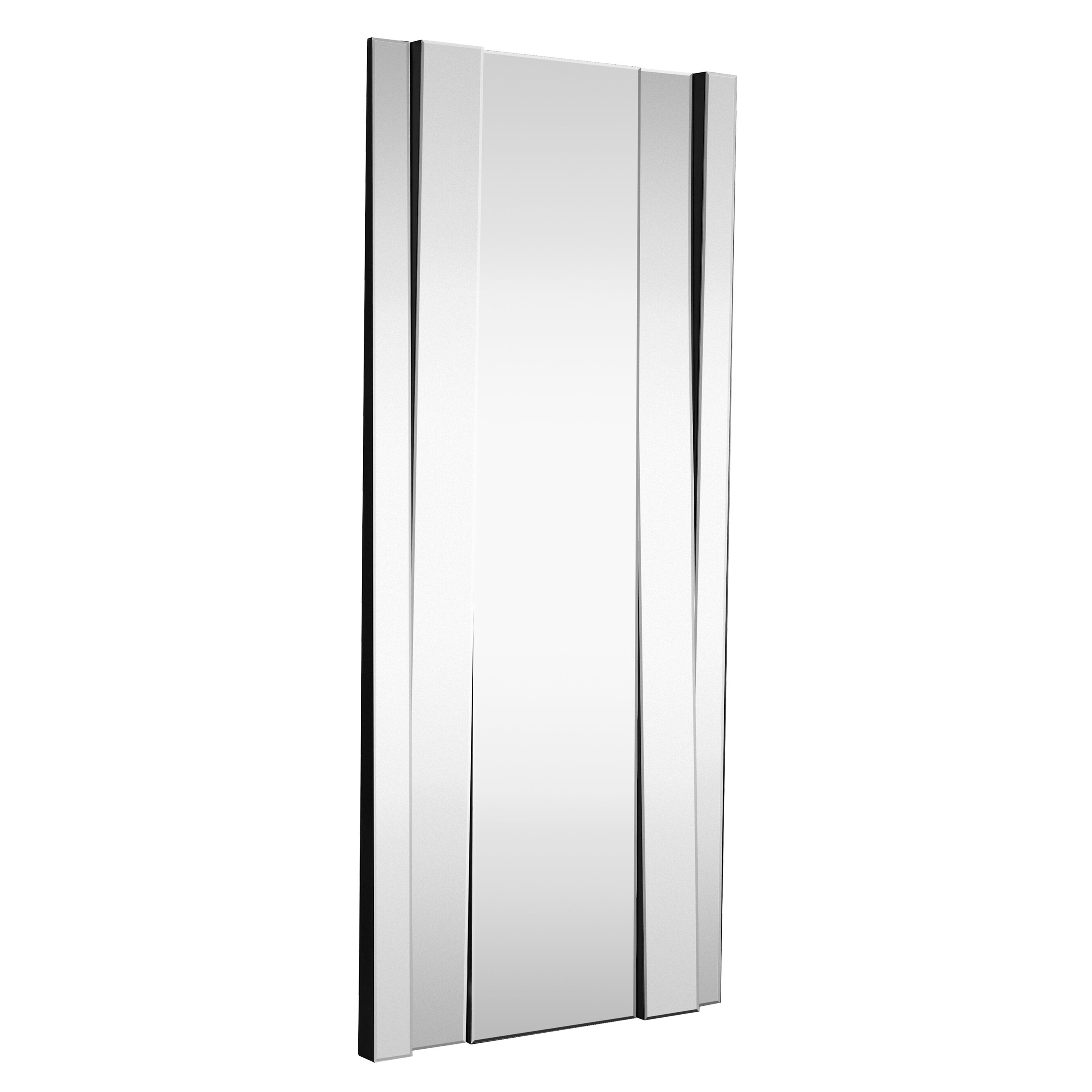 Amazoncom Large Framed Wall Mirror with 3 Inch Angled