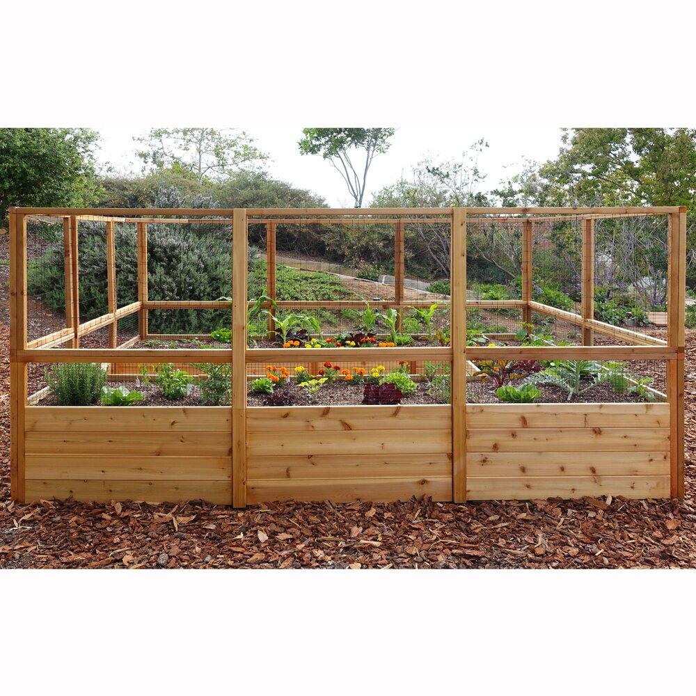 Outdoor Living Today Rectangular Raised Cedar Garden Bed
