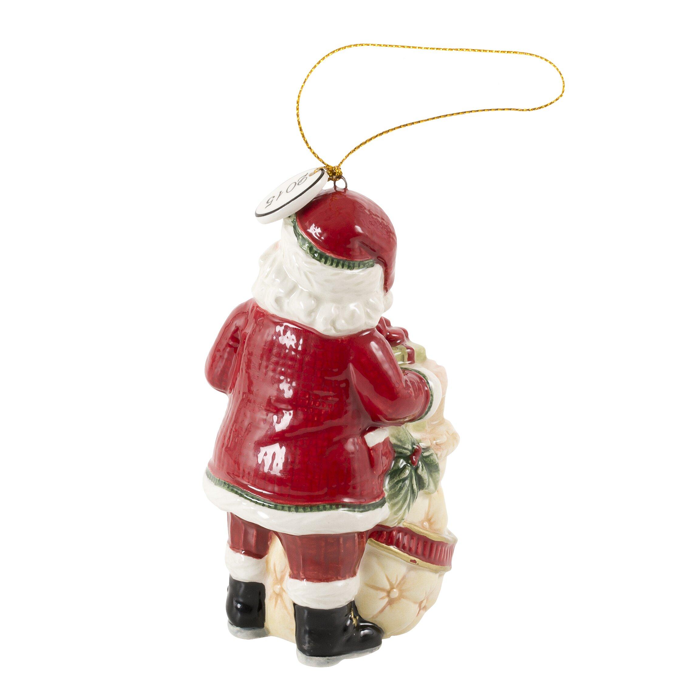 Old fashioned santa ornaments 50