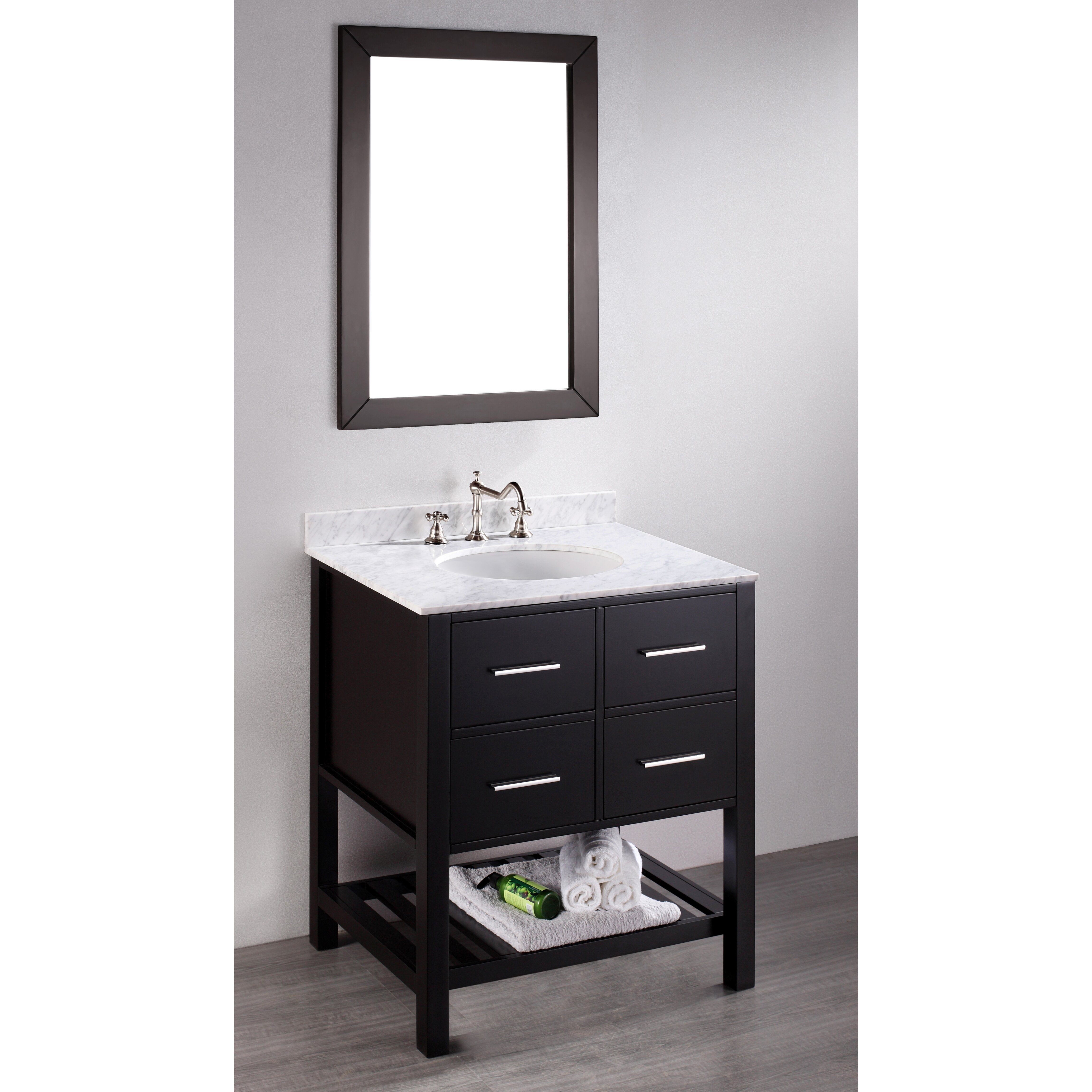 Bosconi Contemporary  Single Bathroom Vanity Set With Mirror Reviews Wayfair