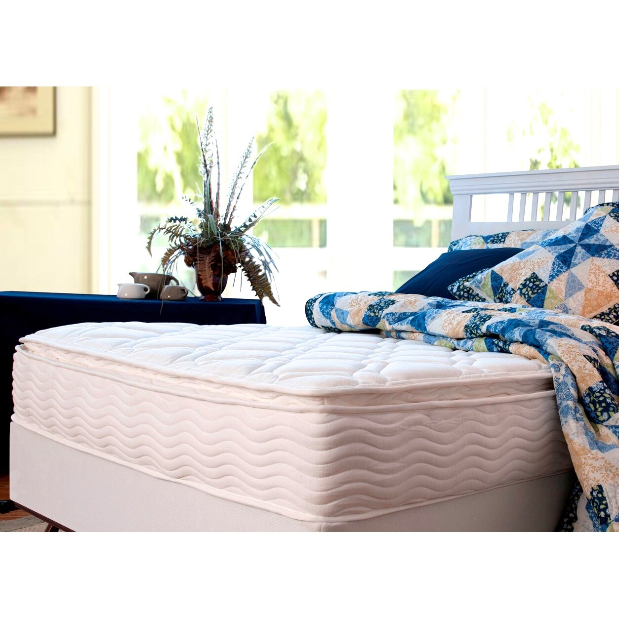 Orthotherapy  Euro Box Top Spring Mattress Steel Foundation Set
