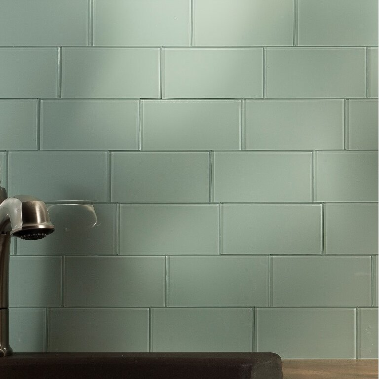 Peel and stick glass backsplash tile