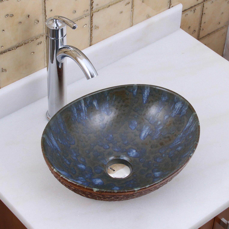 Rocks in bathroom sink