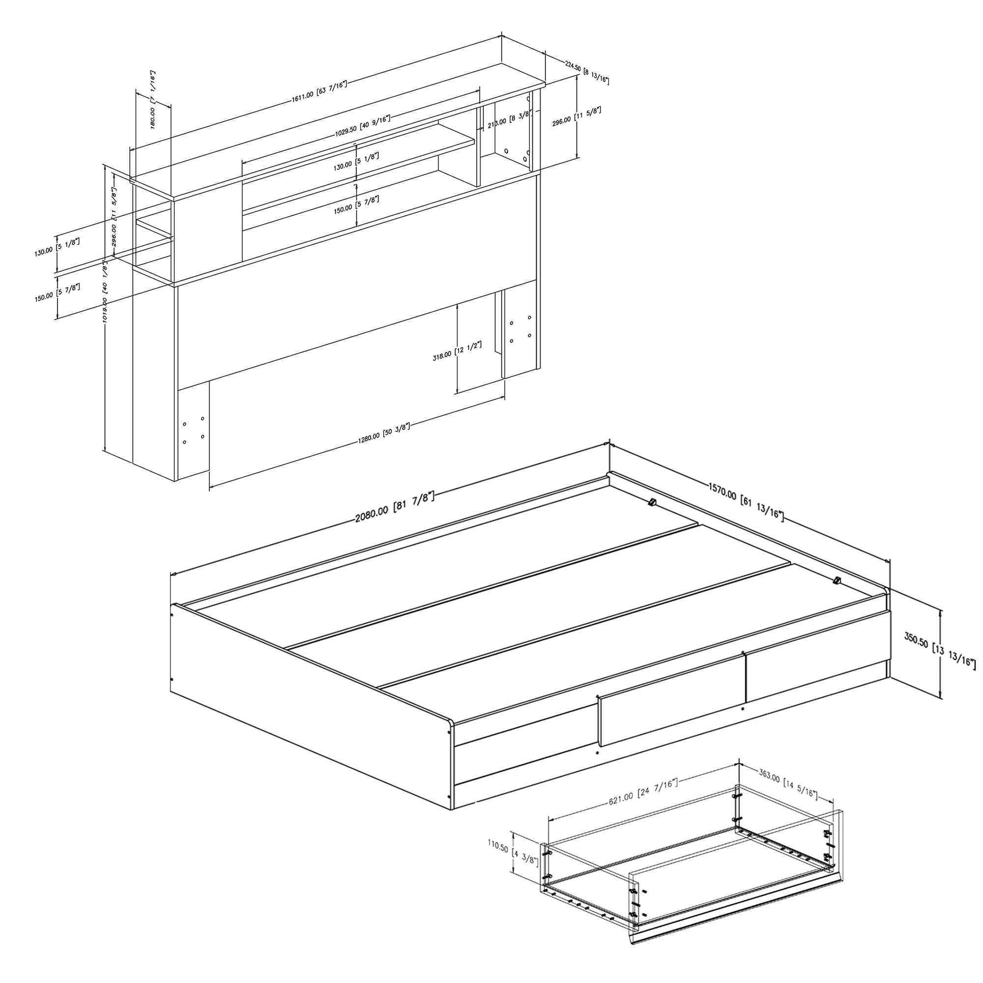 south shore vito queen storage platform bed  u0026 reviews