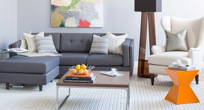 modern living room on a budget wayfair