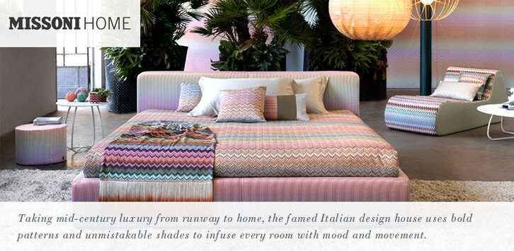 missoni home pillows bedding throws rugs allmodern. Black Bedroom Furniture Sets. Home Design Ideas