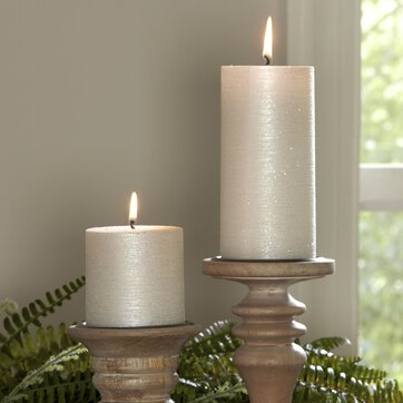 Home accents birch lane for Shimmer pillar candle