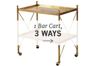 1 Bar Cart, 3 Ways