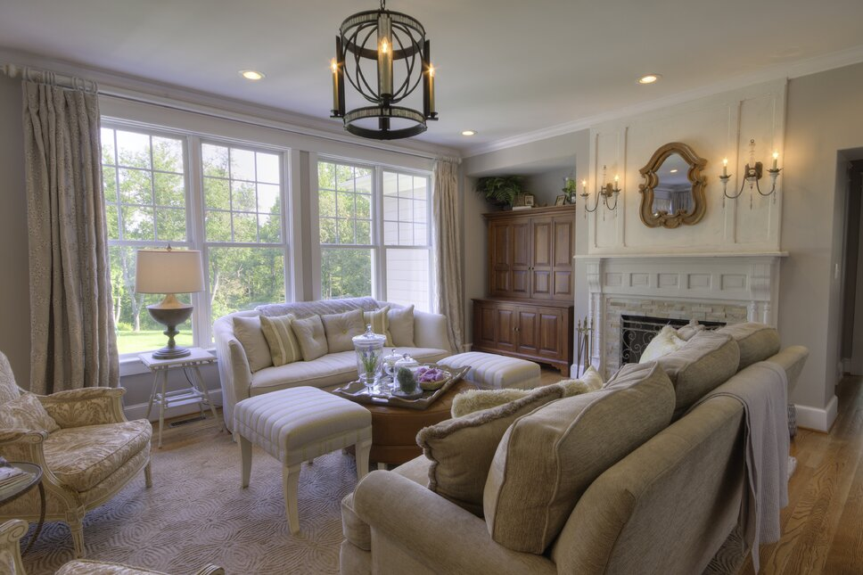 Kim Veillon For Embellish Interiors Cottage Country Living Room Design