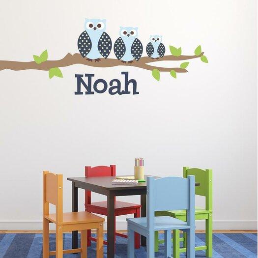 Alphabet garden designs owl family boy wall decal allmodern for Alphabet garden designs