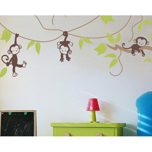 Alphabet garden designs monkey vines wall decal allmodern for Alphabet garden designs
