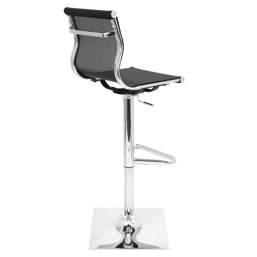 Lumisource Mirage Adjustable Height Swivel Bar Stool