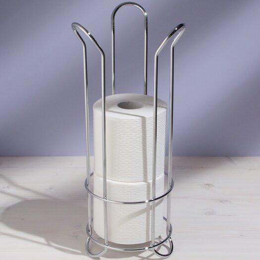 Interdesign free standing tulip toilet paper holder reviews allmodern - Interdesign toilet paper holder ...