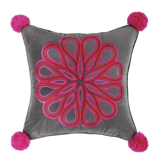 Decorative Pillows Trina Turk : Trina Turk Carillo Embroidered Cotton Throw Pillow AllModern