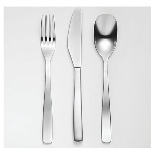 Alessi knifeforkspoon by jasper morrison 24 piece flatware set reviews allmodern - Alessi flatware sale ...