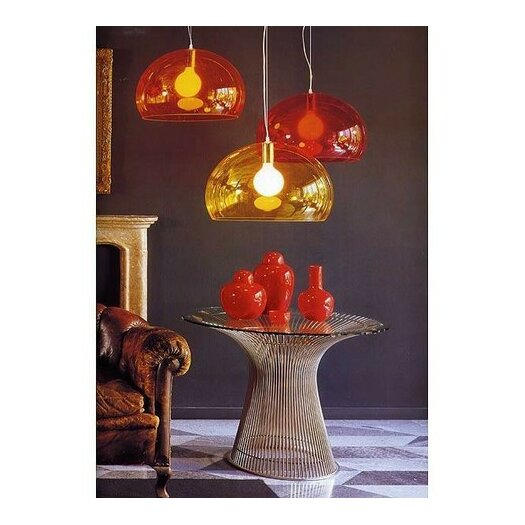 kartell fly 1 light suspension bowl pendant bloom lamp gold ferruccio laviani