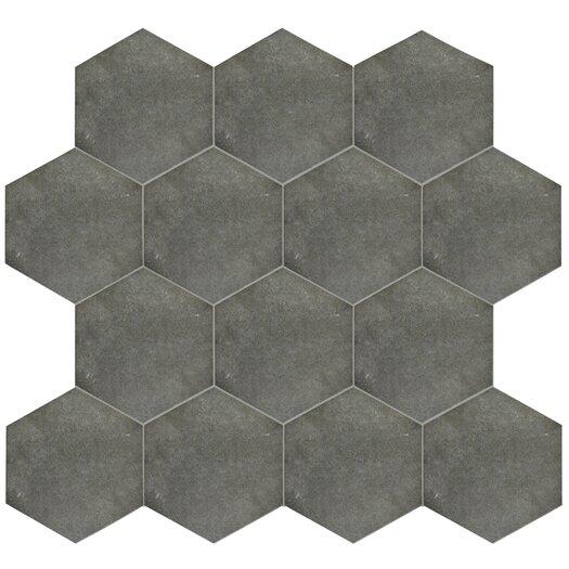 Elitetile Annata 8 63 Quot X 9 88 Quot Hex Porcelain Field Tile In