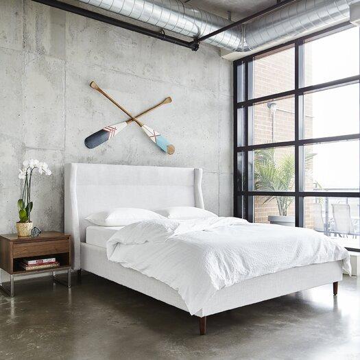 Gus Modern Carmichael Upholstered Platform Bed Amp Reviews