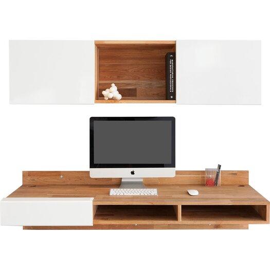 Mash studios laxseries wall mounted desk reviews allmodern for Lax wall mounted desk