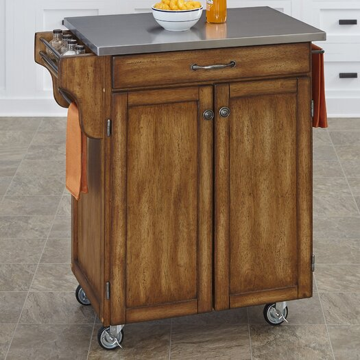 home styles cuisine kitchen cart with stainless steel top kitchen island cart with stainless steel top modern