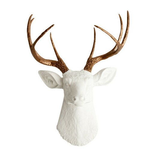 White Faux Taxidermy The Lydia Deer Head Wall D Cor