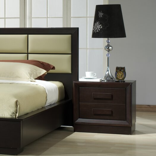 J M Furniture Boston 2 Drawer Nightstand Reviews Allmodern
