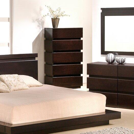 J M Furniture Knotch 5 Drawer Chest Reviews Allmodern