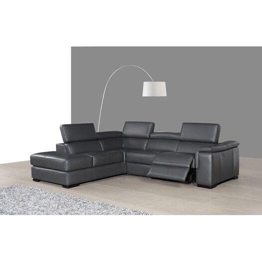 J M Furniture Agata Premium Leather Sectional Reviews Allmodern