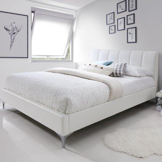 all modern platform bed j amp m furniture upholstered platform bed amp reviews allmodern 13998