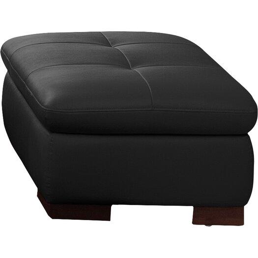 J M Furniture Italian Leather Ottoman Reviews Allmodern