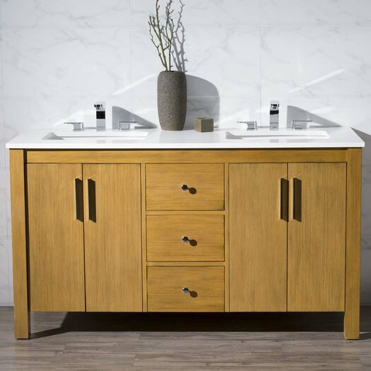 Dcor Design Cambridge 59 Double Sink Bathroom Vanity Set Reviews Allmodern