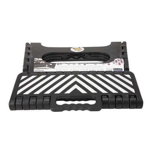 Simplify 1 Step Plastic Folding Step Stool With 200 Lb