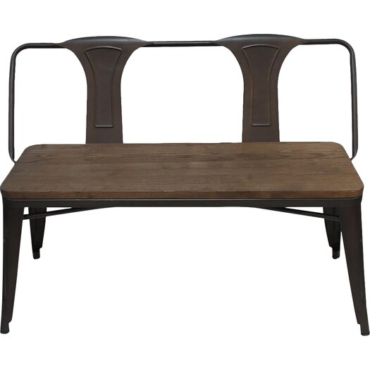 Metal Foyer Bench : Adecotrading metal and wood entryway bench reviews