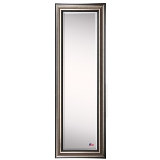 Darby home co antique silver full length beveled body for Silver full length mirror