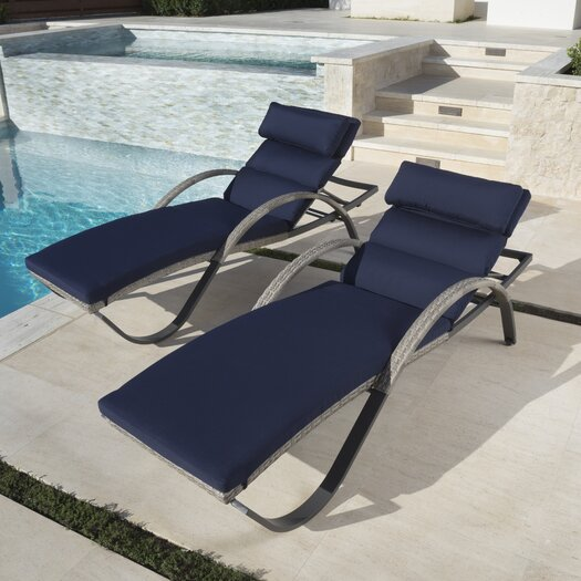 Wade logan alfonso outdoor chaise lounge cushion set for Black friday chaise lounge