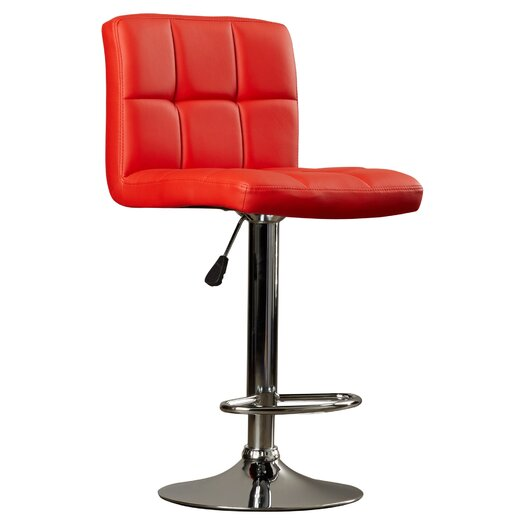 Wade Logan Taylor Adjustable Height Swivel Bar Stool