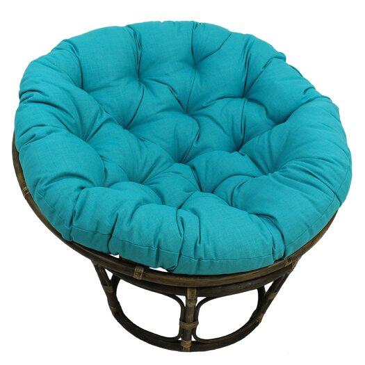 Bungalow Rose Benahid Outdoor Rattan Papasan Chair with Cushion & Reviews