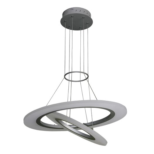 VONNLighting Tania Duo LED Halo Chandelier & Reviews ...
