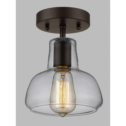 Laurel Foundry Modern Farmhouse Bouvet 1 Light Semi Flush Mount & Reviews