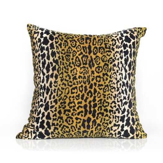 Elements By Erin Gates Leopard Velvet Throw Pillow
