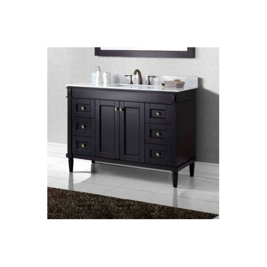 virtu 48 quot bathroom vanity cabinet reviews