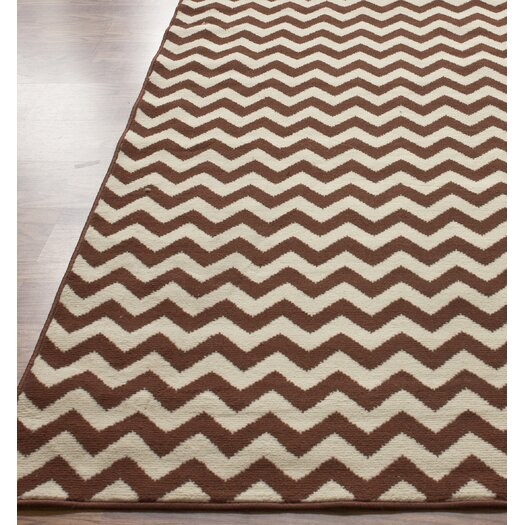 Nuloom Allure Brown Ivory Chevron Area Rug Amp Reviews