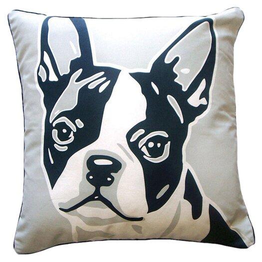 naked decor dachshund puppies pillow, black/brown/white