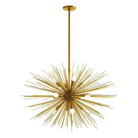 Arteriors Home Zanadoo Gold 12 Light Sputnik Chandelier