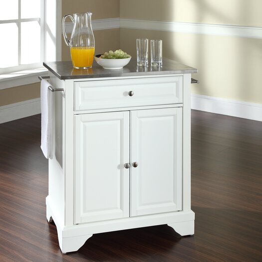 crosley lafayette kitchen cart with stainless steel top modern kitchen cart stainless steel top portable island