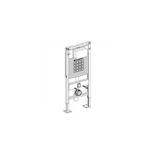 Duravit geberit duofix concealed tank and carrier for Geberit tank