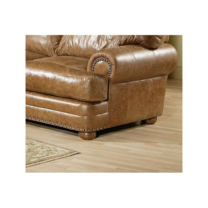 omnia leather houston leather sofa reviews wayfair