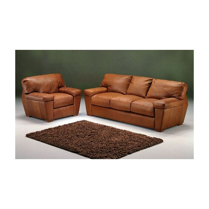 Omnia Leather Prescott Leather Living Room Set